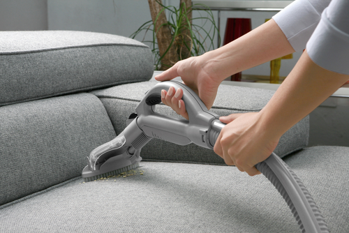 Amazing Vacuum The Sofa First. Use The Soft Brush Attachment On Your Vacuum Cleaner.  Brush With And Then Against The Fabric. This Will Pick Up Dust And Stray  Dirt ...