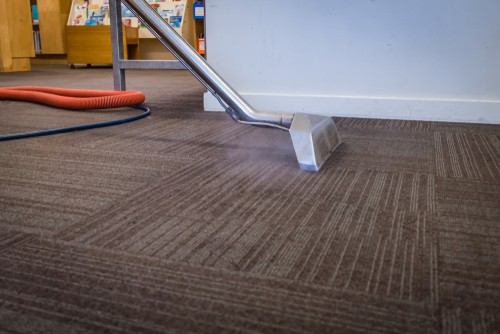 Carpet hot water extraction cleaning